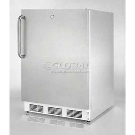 Summit FF6L7CSSADA - ADA Comp Built-In Undercounter Refrigerator, Complete S/S,, Front Lock