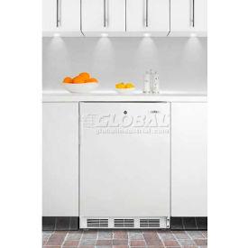 Summit FF6LBIADA ADA Comp Built in Undercounter Refrigerator 5.5 Cu. Ft. White