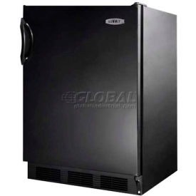 Summit FF7B - Freestanding All-Refrigerator, Auto Defrost, Black