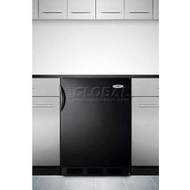 Summit FF7BBI Commercial Built In Undercounter All Refrigerator 5.5 Cu. Ft. Black