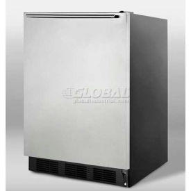 Summit FF7BSSHH Freestanding All Refrigerator 5.5 Cu. Ft. Black/Stainless Steel