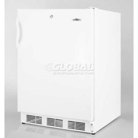 """Summit FF7LADA - Freestanding All-Refrigerator, Automatic Defrost, Lock, 32""""H For ADA Counters"""
