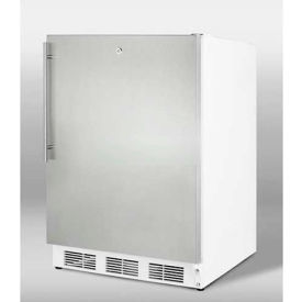 "Summit FF7LSSHVADA - Freestanding All-Refrigerator, Automatic Defrost, Lock, 32""H For ADA Counters"