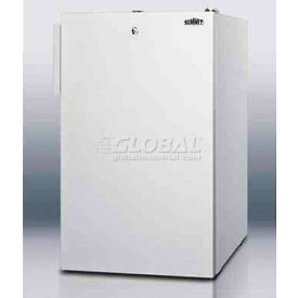 "Summit FS407LBI - 20""W Built-In Undercounter All-Freezer, To -20°C, Lock, White"