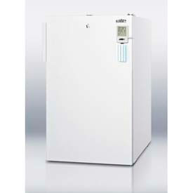 """Summit FS407LBI7MEDDT Commercially Listed 20"""" Wide All-Freezer For Built-In Use, Digital Thermostat"""