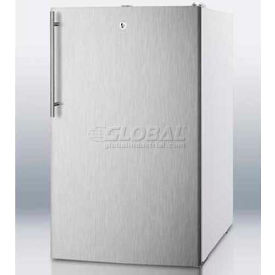 "Summit FS407LBISSHV - 20""W Built-In Undercounter All-Freezer, -20°C Capable, Lock, WH"