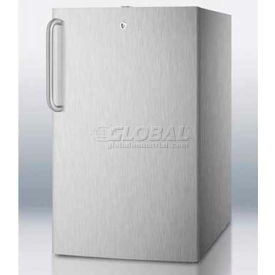 "Summit FS407LCSS - 20""W Built-In UC All-Freezer -20°C , Lock, Complete SS Finish"