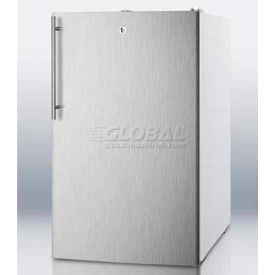 "Summit FS407LSSHV - 20""W Counter Height All-Freezer, -20°C Capable, Lock, S/S Door, WH"