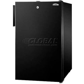 "Summit FS408BL7 - 20""W Counter Height All-Freezer, -20°C Capable, Lock, Black Exterior"