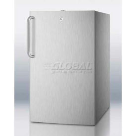 "Summit FS408BL7CSSADA - ADA Comp 20""W Built-In Undercounter All-Freezer, Full S/S Exterior, Lock"