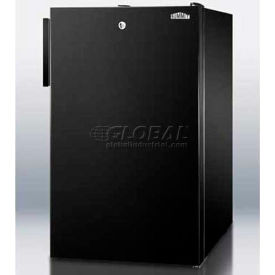 """Summit FS408BLBI - 20""""W Built-In Undercounter All-Freezer, -20°C Capable With Lock, Black"""