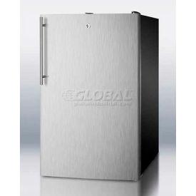 "Summit FS408BLBI7SSHVADA - ADA Comp 20""W Built-In Undercounter All-Freezer, Lock, Black"