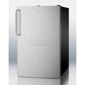 """Summit FS408BLBI7SSTBADA - ADA Comp 20""""W Built-In Undercounter All-Freezer, Lock, S/S Door,"""