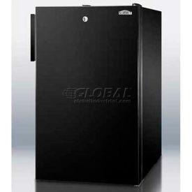 """Summit FS408BLBIADA - ADA Comp 20""""W Built-In Undercounter All-Freezers, -20°C, Lock, Black"""