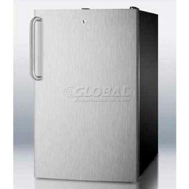 "Summit FS408BLBISSTB - 20""W Built-In Undercounter All-Freezer -20°C Capable, Lock, BK"