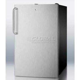 "Summit FS408BLBISSTBADA - ADA Comp 20""W Built-In Undercounter All-Freezer, -20°C, Black"