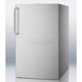 "Summit FS408BLCSS - 20""W Built-In Undercounter All-Freezer, -20°C, Lock, Staniless Steel"