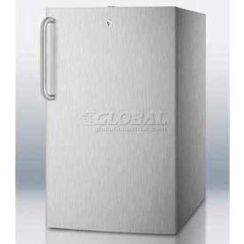 "Summit FS408BLCSSADA - ADA Comp 20""W Built-In Undercounter Freezer, -20°C, Stainless Steel"