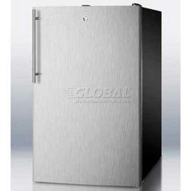 "Summit FS408BLSSHV - 20""W Counter Height All-Freezer, -20°C Capable, S/S Door, Black"