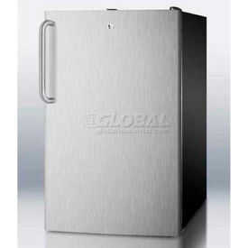 "Summit FS408BLSSTB - 20""W Counter Height All-Freezer, -20°C Capable, Lock,, Bk Cabinet"