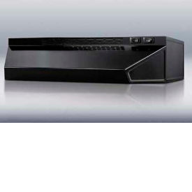 """Summit H1624B - 24""""W Convertible Range Hood, Ducted Or Ductless Use, Black"""