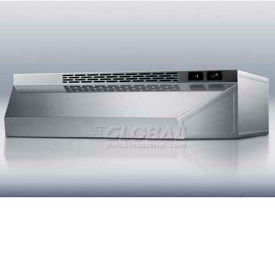 """Summit H1720SS - 20""""W Ductless Range Hood, Stainless Steel Finish"""