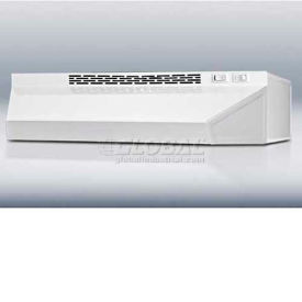 "Summit H1724W - 24""W Ductless Range Hood, White Finish"