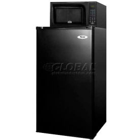 Summit MRF421BL - Compact Refrigerator-Freezer-Microwave Combo, Slim Width, BlackMRF421B
