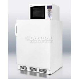 Summit MRF66 - Compact Refrigerator-Freezer-Microwave Unit With Dual Evaporator Cooling ,White