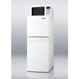 Summit MRF71 - Frost-Free Refrigerator-Freezer-Microwave Combination In Thin-Line Width White