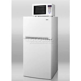 "Summit 24"" W Refrigerator-Freezer Microwave Combination Unit, Frost-Free Operation, White"
