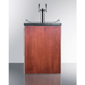 """Summit SBC635MBIFRTWIN Beer Dispenser, Built-In Residential, 5.6 Cu. Ft., 24""""W x... by"""