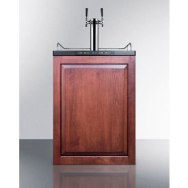 """Summit SBC635MBIIFTWIN Beer Dispenser, Built-In Residential, 5.6 Cu. Ft., 24""""W x... by"""