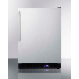 "Summit SCFF53BXCSSHV - Frost-free Built-in Undercounter All-Freezer, SS, 4.72 Cu. Ft, 23-5/8""W"