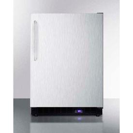 "Summit SCFF53BXCSSTB - Frost-free Built-in Undercounter All-Freezer, SS, 4.72 Cu. Ft, 23-5/8""W"