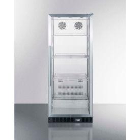 Summit SCR1156 - Beverage Merchandiser, Full-Size, Glass Door, Lock, Slim Width
