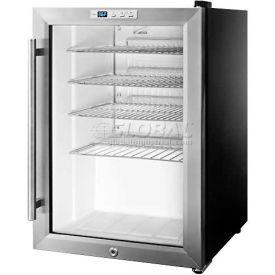 Summit SCR312L - Countertop Beverage Cooler, Black, Glass Door, Lock