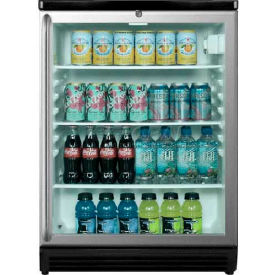 Summit SCR600BLSH - Commercial Freestanding Beverage Refrigerator, Lock, Full-Length TB Handle, BK