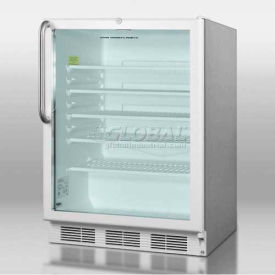 Summit SCR600LCSSADA - ADA Comp Commercial All-Refrigerator For Built-In Use, Three Shelves
