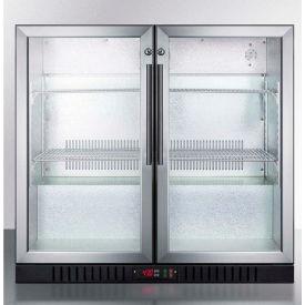 Summit SCR7012DB   Counter Height Beverage Merchandiser, Two Glass Swing  Doors