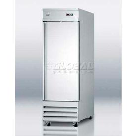 "Summit SCRR230 - 23 Cu. Ft. Reach-, Refrigerator, Complete Stainless Steel"""