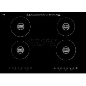 Summit Built-In 220 Volt Induction Cooktop, Four Zones & Black Ceran™ Smooth-Top Finish