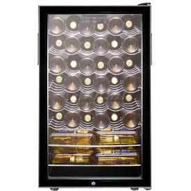"""Summit SWC525L - 20""""W Freestanding Wine Cellar, Lock, Digital Thermostat"""