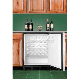 Summit SWC6GBLCSSWO - Commercial Under-Counter Wine Cellar For Free-Standing , S/S Cabinet, Handle