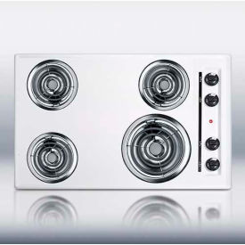 """Summit WEL05 - 30""""W 220V Electric Cooktop, White Porcelain Finish"""