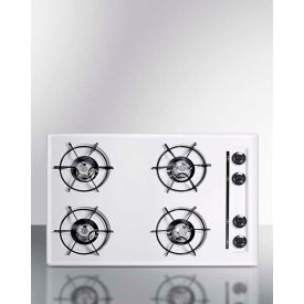 "Summit WNL05P - Cooktop, Electric, 4 Burners, Battery Start, White, 20"" x 30"" x 3-3/4"""