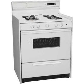 "Summit WNM2307KW - Deluxe Gas Range, 30""W Electronic Ignition, Digital Clock/Timer, Oven Door, Light"