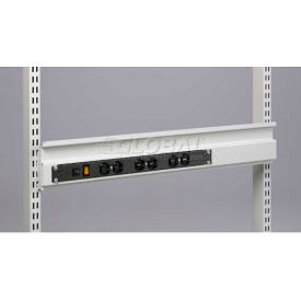 "Sovella M48 Bin Rail With 12 Outlet Power Bar With Surge, 48""W X 3""D X 3""H"