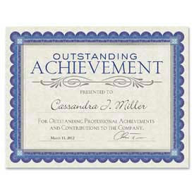 "Southworth® Foil Enhanced Parchment Certificates, 8-1/2"" x 25"", Ivory, 15 Sheets/Pack"
