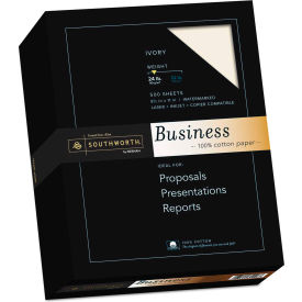 "Southworth® 1 Cotton Business Paper 3112616, 8-1/2"" x 11"", Ivory, 1/Box"
